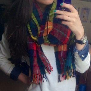 J. Crew colorful plaid scarf